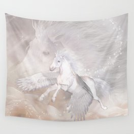 Flying Unicorn Wall Tapestry