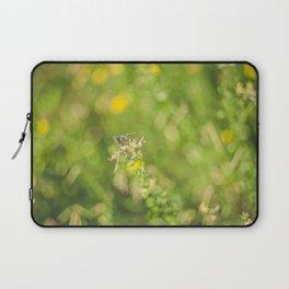 Little butterfly in flowery meadow Laptop Sleeve