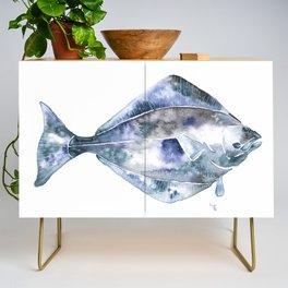 Flat Fish Watercolor Credenza