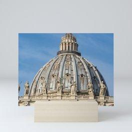 Dome of St. Peter's Basilica, Rome Mini Art Print