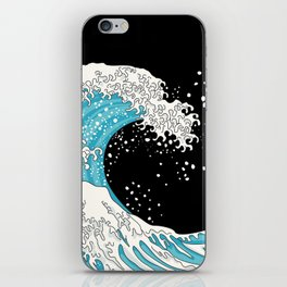 The Great Wave (night version) iPhone Skin