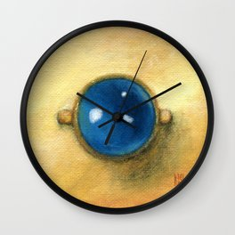 Kyanite gold ring square classic painting Wall Clock