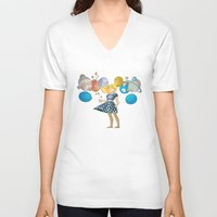 solar system V-neck T-shirts featuring Solar System by Owlsoul
