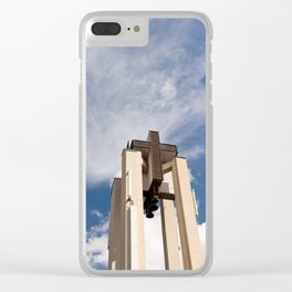High church turret cross symbol Clear iPhone Case