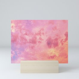 Pastel Sunset Clouds Mini Art Print