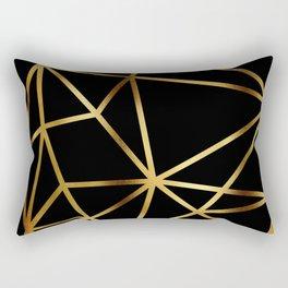 In Gold Triangles. Art Deco. Rectangular Pillow