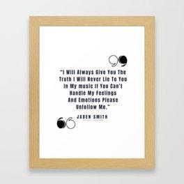 46     Jaden Smith Quotes   190904 Framed Art Print
