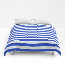 Royal Blue And White Stripes Comforters