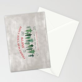 Christmas tree farm SMITH - message me for a different last name Stationery Cards