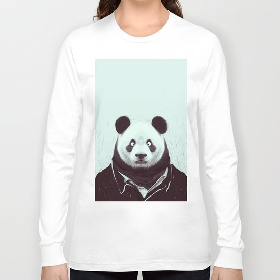 Panda googly eyes Long Sleeve T-shirt