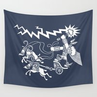 thor Wall Tapestries featuring Thor by TehStr4ngeOnes