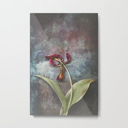 Faded Tulip Metal Print
