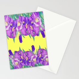 Flower-de-luce in yellow Stationery Cards