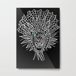 Aqua Eye Dragon Metal Print