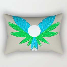 Feather Leaves #1 Rectangular Pillow
