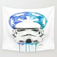 storm trooper Wall Tapestries featuring Storm Trooper by Leigh Roundy