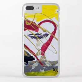 Crying Heart Clear iPhone Case