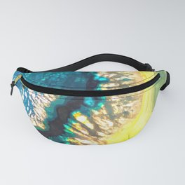 Blue and Yellow Agate Fanny Pack
