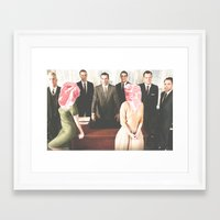 mad men Framed Art Prints featuring Mad Men by frankmanleynelson