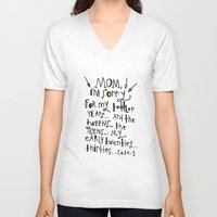 toddler V-neck T-shirts featuring Sorry for my toddler years by Tonya Doughty