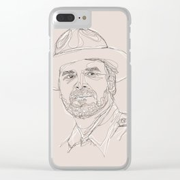 A Very Handsome Sheriff Clear iPhone Case