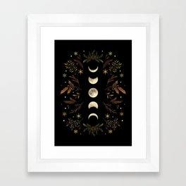 Moonlight Garden - Winter Brown Framed Art Print