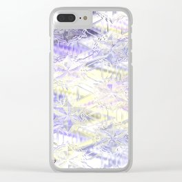Cristal stars, pastel glass Clear iPhone Case