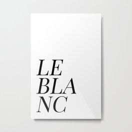 Le blanc Metal Print