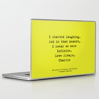 the perks of being a wallflower Laptop & iPad Skins featuring Perks of Being a Wallflower  by Mackenzie Hahn