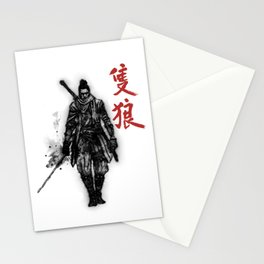 One Armed Wolf Stationery Cards