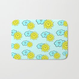 Cute baby design in blue Bath Mat