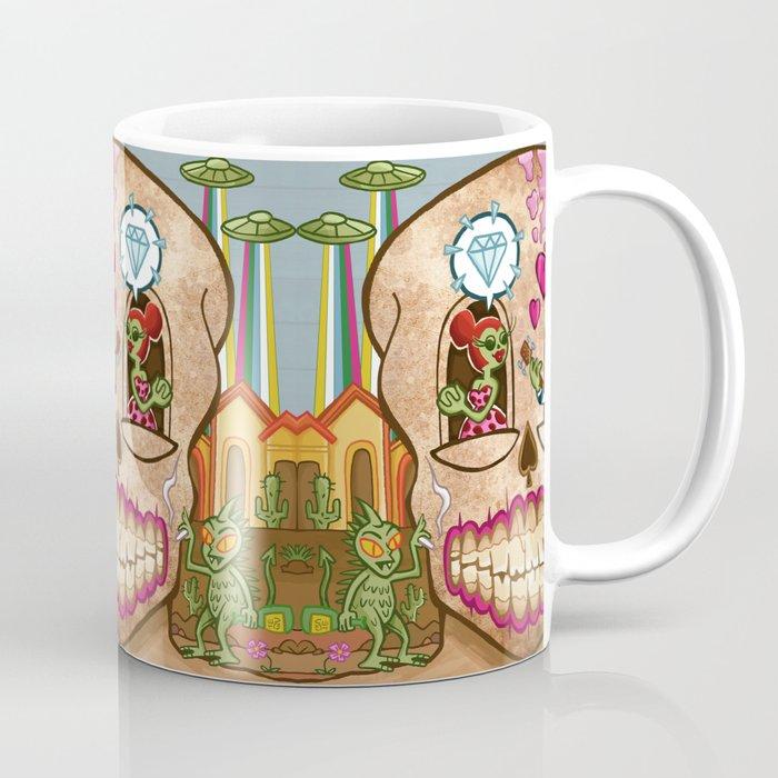 Mexican Skull House Coffee Mug