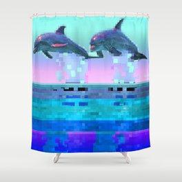 Dolphin Jitter Shower Curtain