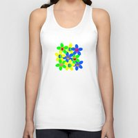 70s Tank Tops featuring Flower Power 60s-70s by dedmanshootn