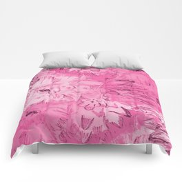 ETCHED PINK FLORAL Comforters