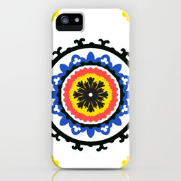 Bold and bright beauty of suzani patterns ver.9 iPhone Case