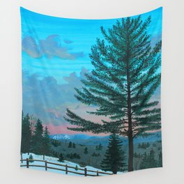 VT Cabin View Wall Tapestry