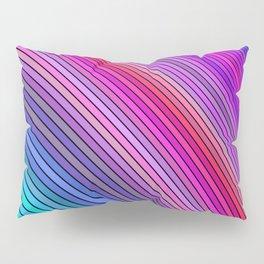 Cold rainbow stripes Pillow Sham