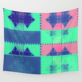 Squares, Quads & Dots in Pastel Colors Wall Tapestry