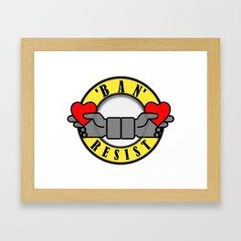 BAN RESIST Framed Art Print