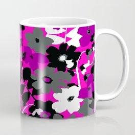 SUNFLOWER TOILE PINK BLACK GRAY WHITE PATTERN Coffee Mug