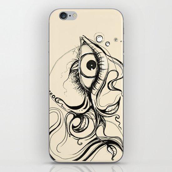 Eye Fish Doodle iPhone & iPod Skin