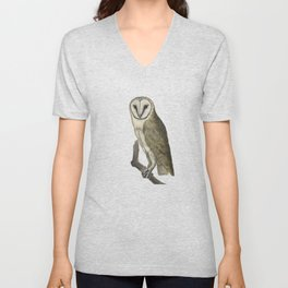 An owl look out Unisex V-Neck