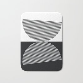 Abstract - Black and White Bath Mat