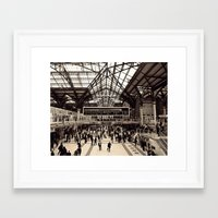 liverpool Framed Art Prints featuring Liverpool Station by Roxana Lazăr