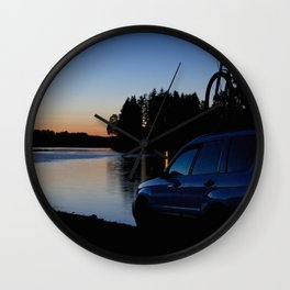 Ride Till Sunset Wall Clock