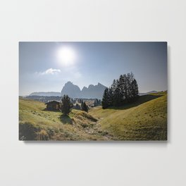 Picture off Alpe di Siusi (Seiser Alm) III | A Journey through the Dolomites, Italy Metal Print