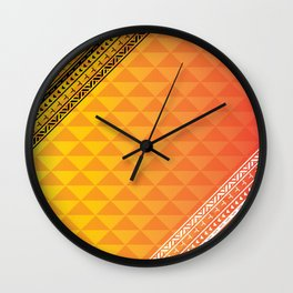 Polynesian Print Wall Clock