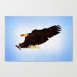 Eagle Warrior - Bald Eagle Artwork Canvas Print
