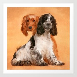 English Cocker Spaniel Dog Digital Art Art Print